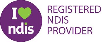 I love NDIS logo - registered NDIS provider brandmark