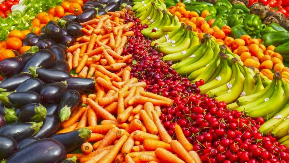 An image displaying a variety of fruit and vegetables.